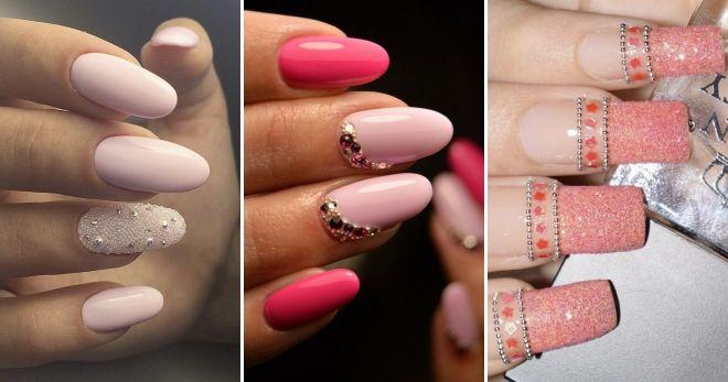 Manicure kaldu emas merah jambu
