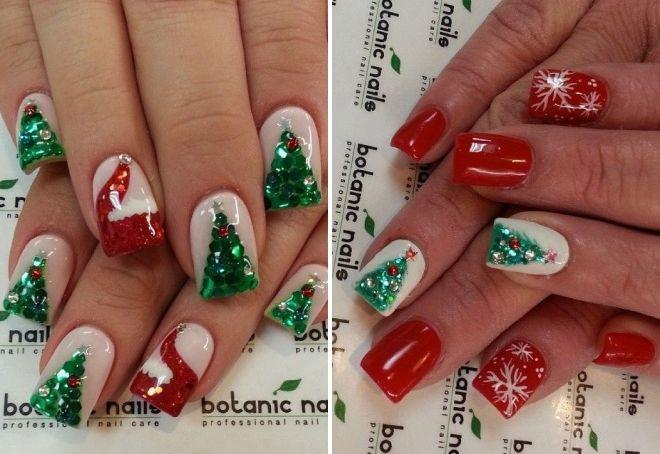 модный новогодний дизайн ногтей