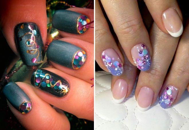 новогодний дизайн ногтей с камифубиками