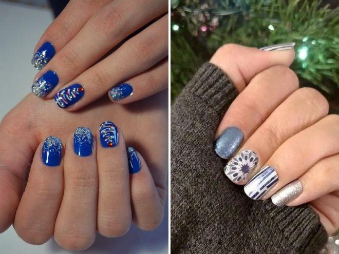 Novogodišnji manikir za kratke nokte 2019 trendove
