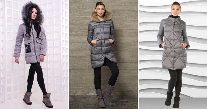 Ženska sivkasta jakna