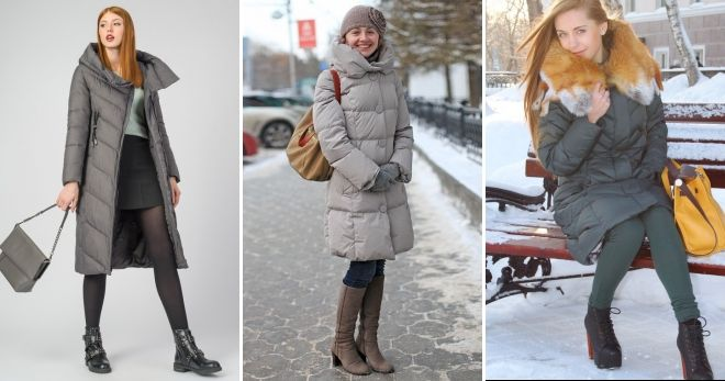 What bag to wear a gray down jacket