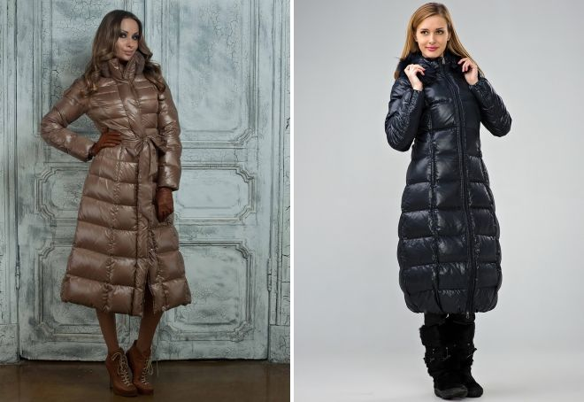 warm long down jacket