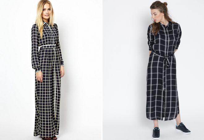 платья в клетку 2018