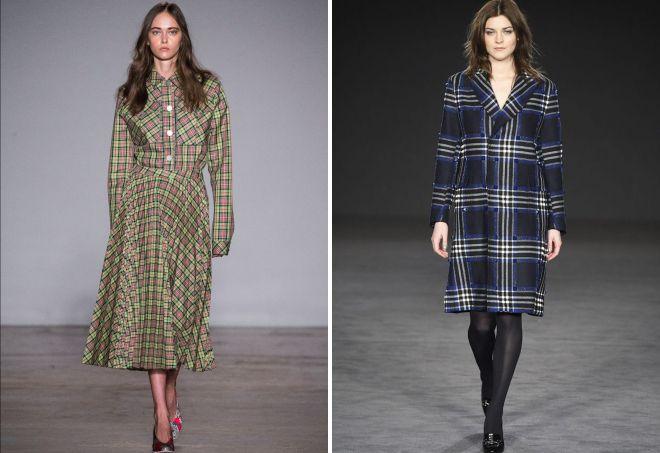 модные платья в клетку 2018