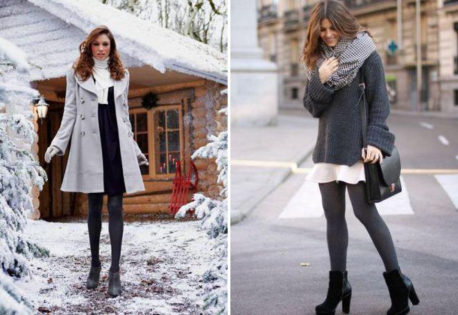 женские теплые колготки на зиму