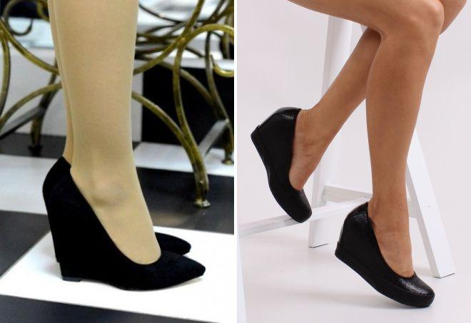 туфли лодочки черного цвета