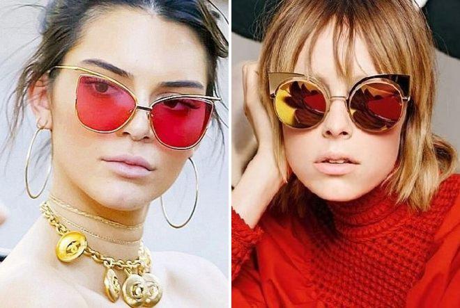 Couleur de la mode des lunettes de soleil 2018