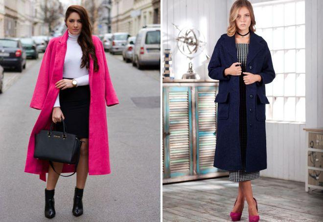 af79b511762 Стильное женское прямое пальто – классическое