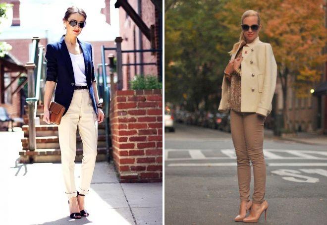 брюки бежевого цвета для женщин