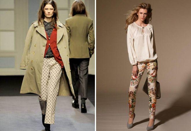 стильные бежевые брюки