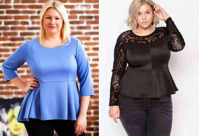 модные женские блузки 2017 для полных