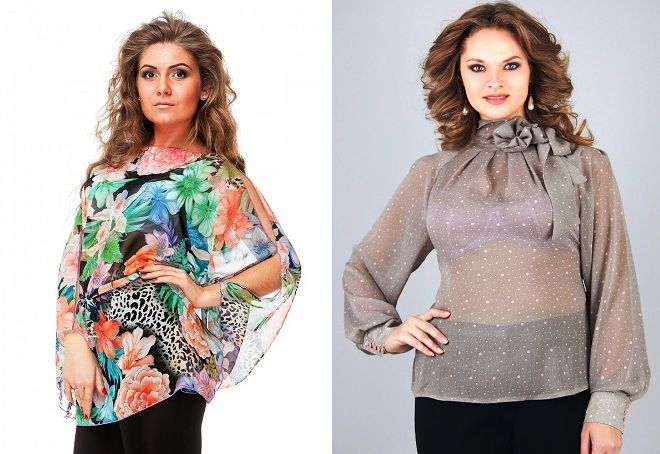 шифоновые блузки для полных женщин