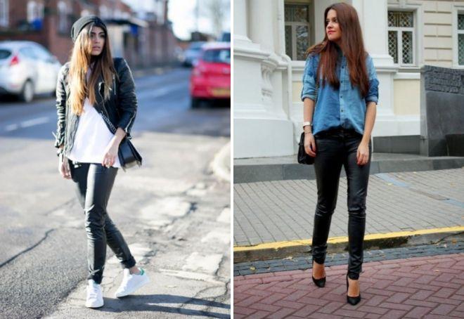 женские черные зауженные брюки