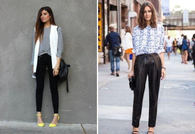 образы с черными брюками