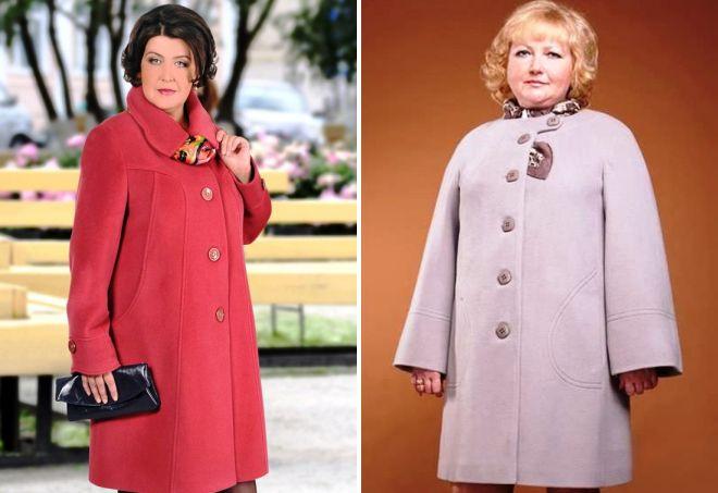 женское осеннее пальто 2017 для полных