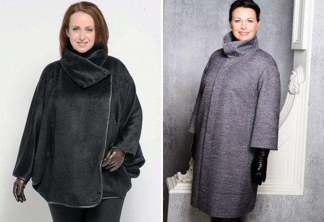 пальто для полных женщин 2017
