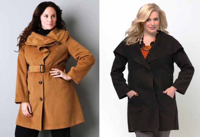 модные пальто для полных