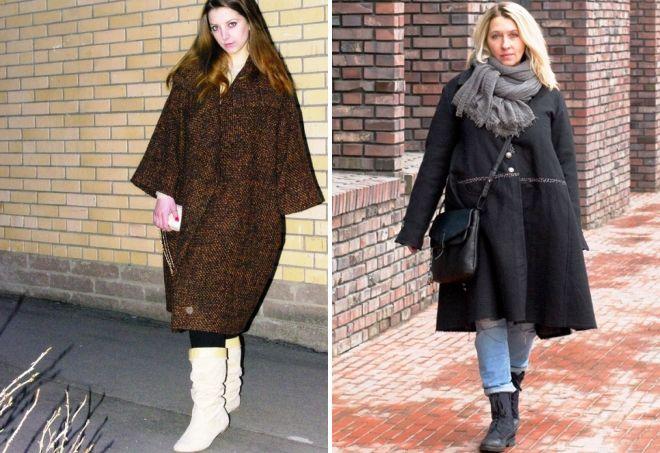 пальто в стиле бохо для полных