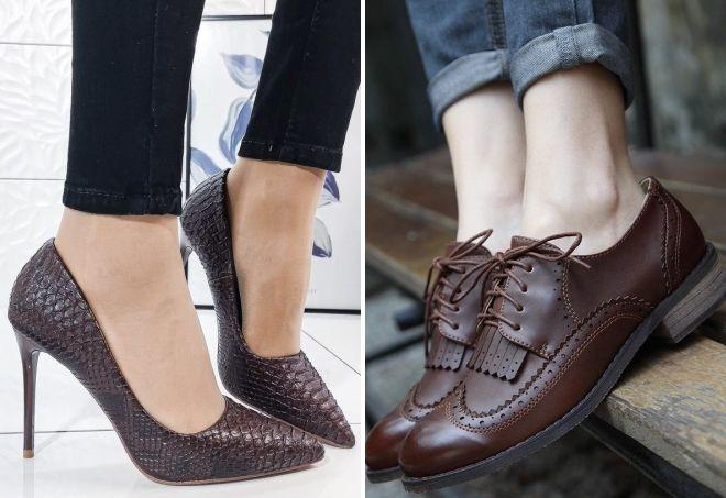 туфли шоколадного цвета