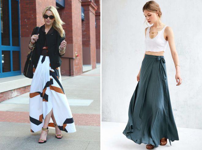 длинные юбки модные фасоны