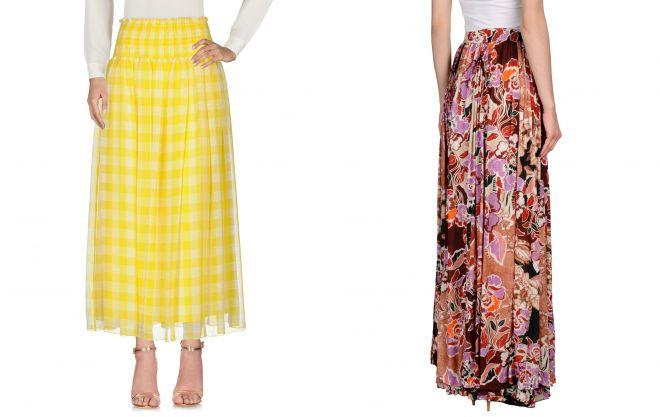 длинная юбка фасон солнце