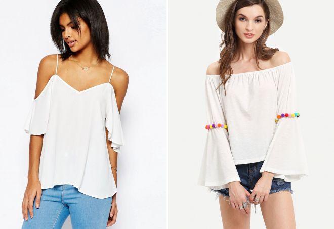 белая блузка на лето