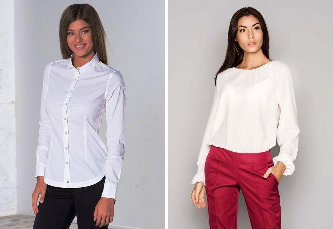 белая блузка 2017