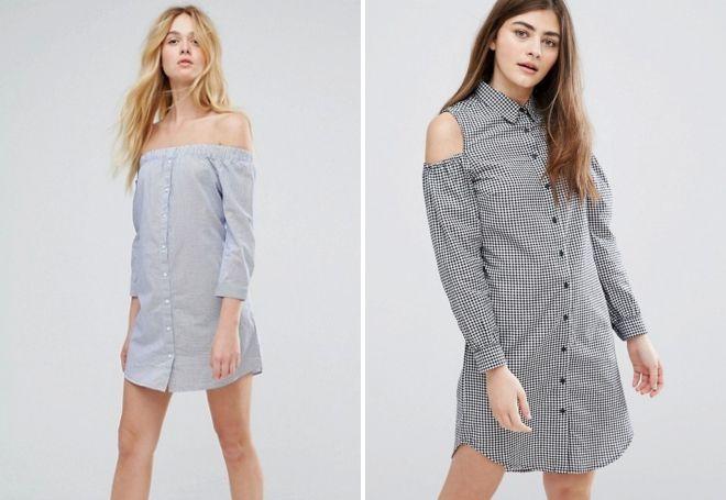 красивые платья рубашки