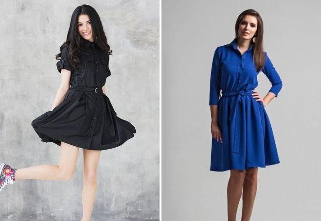 платья рубашки на лето