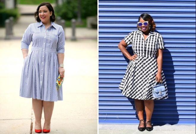 платья рубашки для полных женщин