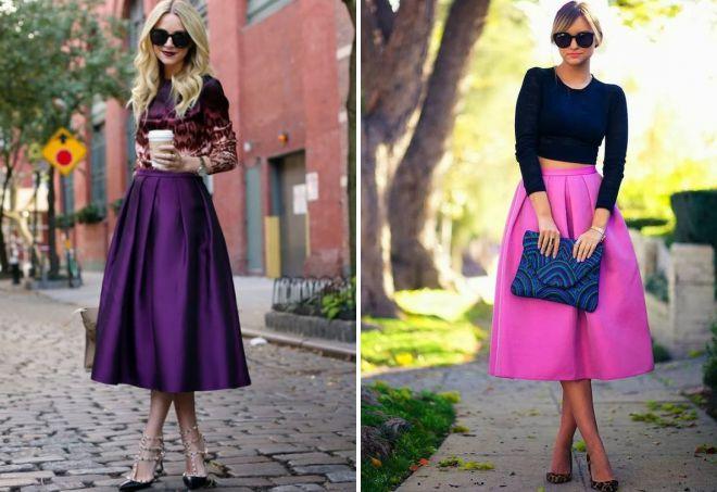 атласные юбки миди