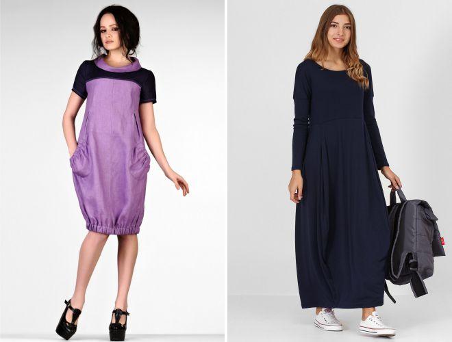 102aab560cb Стильное платье-баллон – длинное