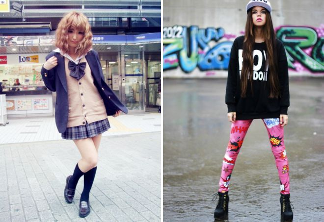 Японская мода – в одежде, верхняя, платья, обувь, прически ...  Японский Стиль в Одежде