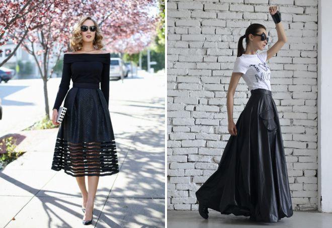 расклешенная юбка с высокой талией