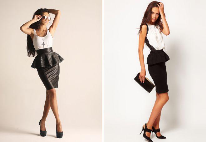 модные юбки с высокой талией