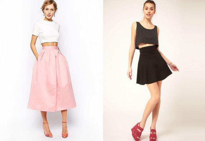 женские юбки с высокой талией