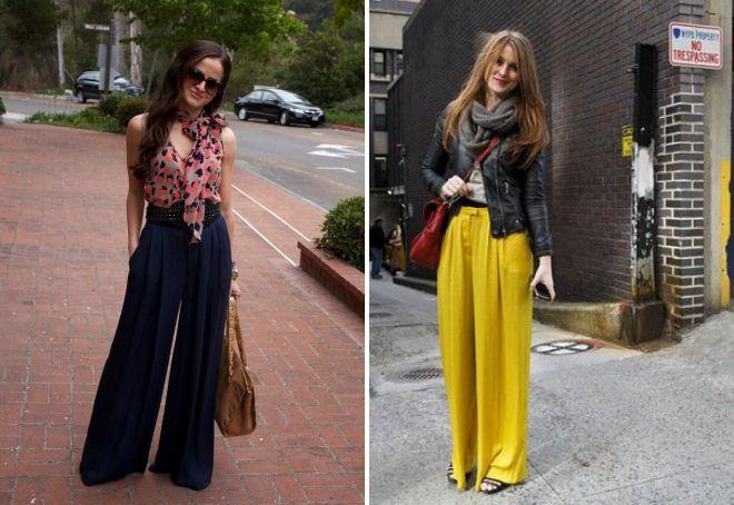 юбка брюки с высокой талией