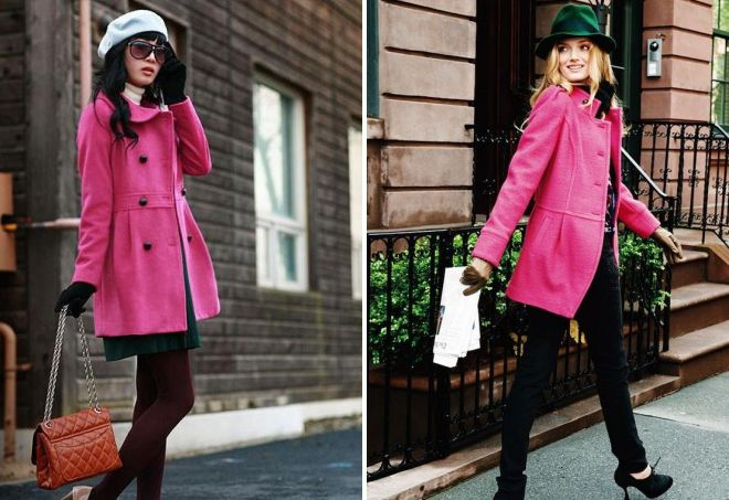 шапка к розовому пальто