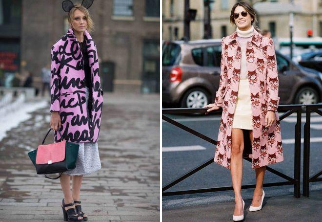 розовое женское пальто