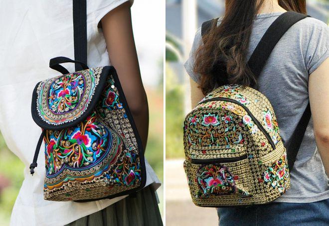 sacs avec broderie florale