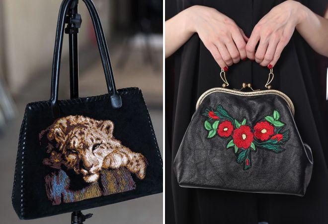 стильная сумка с вышивкой