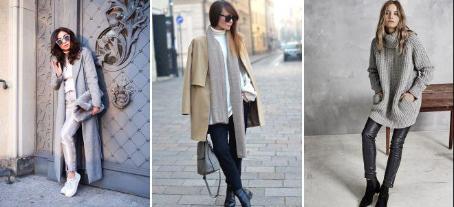 с чем носить брюки дудочки зимой