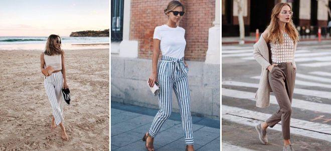 брюки дудочки с высокой талией