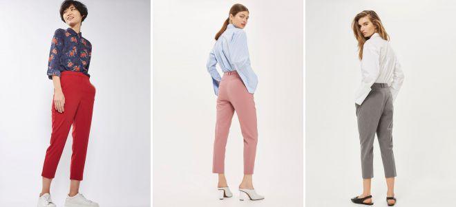 брюки дудочки с завышенной талией