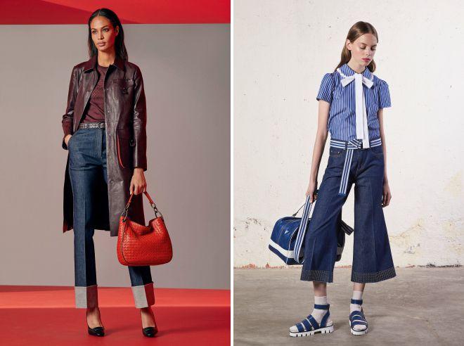 женские расклешенные джинсы