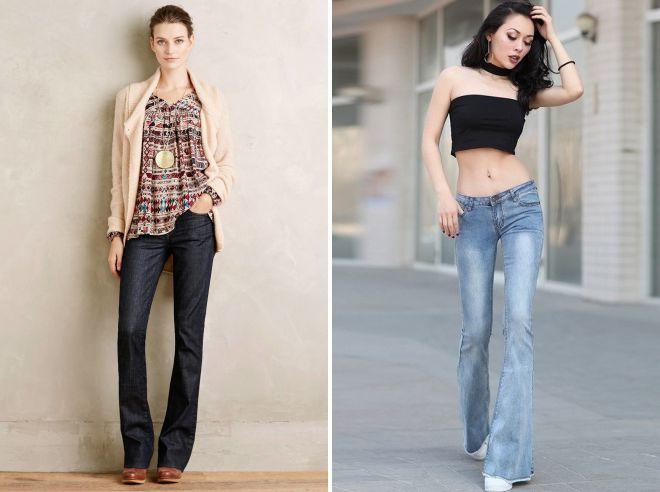 с чем носить джинсы клеш 2018 год