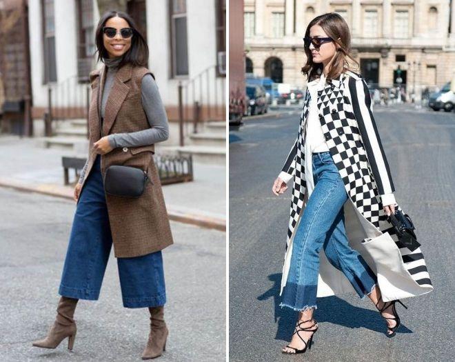 женские джинсы клеш от бедра