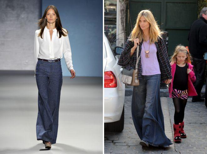 женские джинсы клеш от бедра 2018