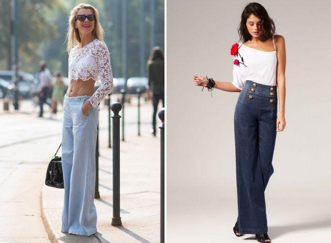 джинсы клеш от бедра 2018